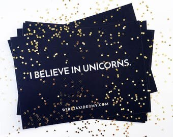 I Believe in Unicorns Postcard - Set of 5 Postcards