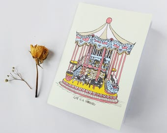 Notebook - Life is a carrousel A6
