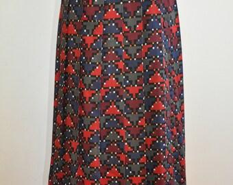 Amazing 80's Liberty Geometric Pleated skirt