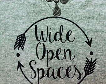 Wide Open Spaces Dixie Chicks Lyric shirt