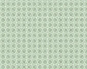 Green Spot Fabric, Gembrook Fabric by the Yard, Ella Blue Fabric, Roasalie Dekker, Cotton Linen, Green Dot Fabric, Modern Fabric, TE 1064 G