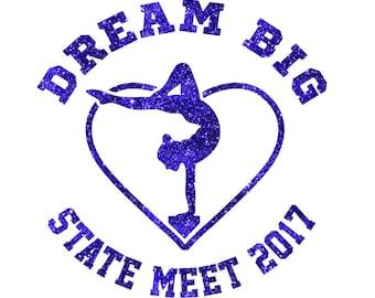 Dream Big States Iron On Decal