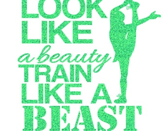 Look Like A Beauty Cheer Iron On Decal