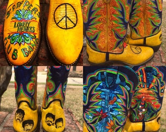 Custom painted Cowboy boots