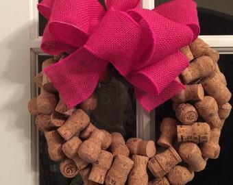 Wreath, Cork Wreath, Monogrammed Wreath, Champagne Corks, Champagne Wreath, Home and Garden Decor