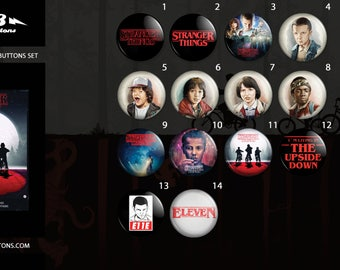 Stranger things buttons collection / / collection of sheets Stranger things