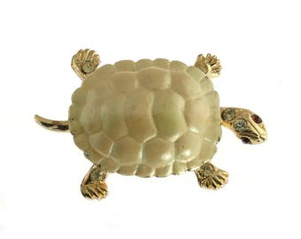 Gold Plated Turtle Pin