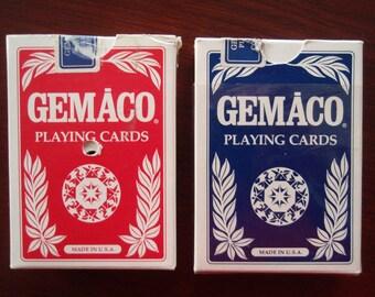 Playing Cards Two Decks USA Drilled Diamond Casino and Meskawki Casino Tama IA Collectible Game C409
