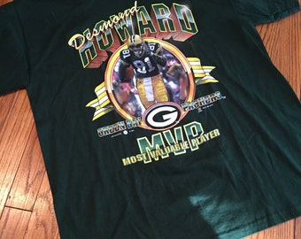 Vintage NFL Green Bay Packers Desmond Howard Caricature Graphic Print T Shirt Size L