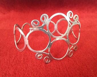 1970s Sterling Silver handmade Bracelet