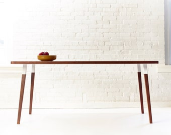 Sunny Side Up Rectangular Dining Table - Minimal Mid-Century Modern