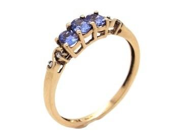 AA Tanzanite and Diamond Ring, Womens Gold Rings, Gold Rings Women, Womens Tanzanite Ring, Tanzanite Rings, Diamond Rings, Gold Tanzanite