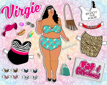 Body Positive Paper Doll- Fashion Icons Printable