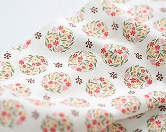 Flower Ball Pattern Digital Printing Cotton Fabric by Yard