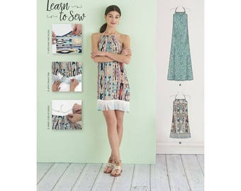 Simplicity Sewing Pattern 8382 Misses' Halter Dress in Two Lengths