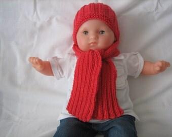 Whole baby Beanie merino wool scarf