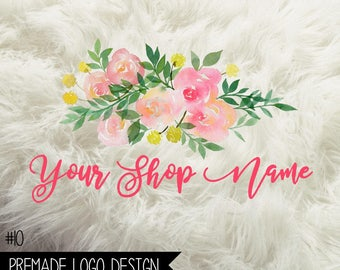 10. Premade Business  Logo Digital File 300dpi PNG file, personalized with your shop name