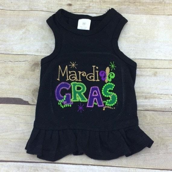 Mardi Gras Dog Shirt Or Dress Cute Fat Tuesday Louisiana
