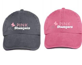 Pink Stampers Low Profile Cap