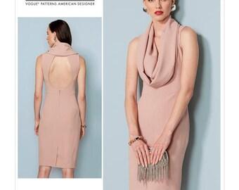 Vogue Pattern V1531 Misses' Cowl-Neck, Open-Back Dress
