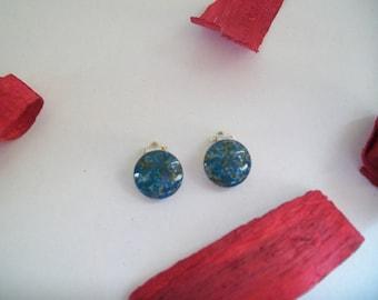 glass clip earrings