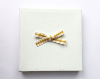 Gold Canvas Bow