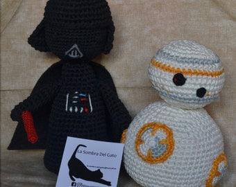 Amigurumi Darth Vader and BB8