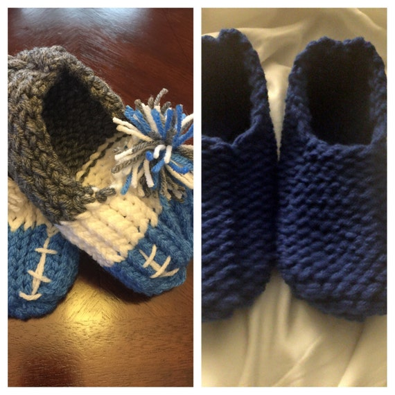 Loom Knitting Slippers : These cute slippers were loom knitted and made for