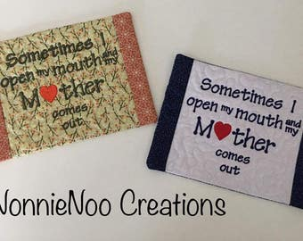 NNC ITH Mother Mug Rug for the 5x7 hoop in all popular formats