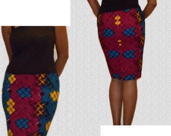 African Print Pencil Skirt,Ankara Pencil Skirt,Geometric Print Skirts,Pencil skirts, Kitenge Pencil Skirt, Party skirt,Skirts,African shop