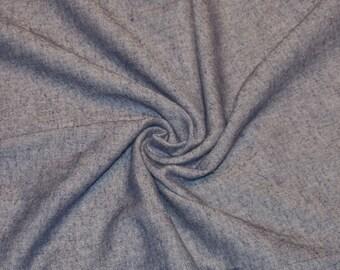 Herringbone Flannel Shirting from Japan // Blue and White Herringbone Fabric // Flannel Fabric by the yard