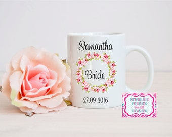 Personalised Bride Mug - Newly Wed - Mrs