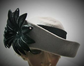 Sylvia New York Gray 100% Wool Hat