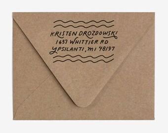 Vibes - Custom Hand Lettered Return Address Stamp