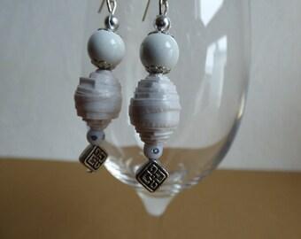 White earrings - Made in FRANCE