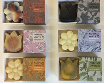 DISCOUNT COMBO: selection of any four flower soaps