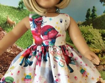 "18"" Glittery troll dress"