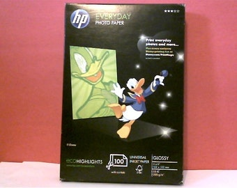 "HP EVERYDAY PHOTO Paper - Glossy Inkjet Paper 4"" x 6"" - 100 Sheets"