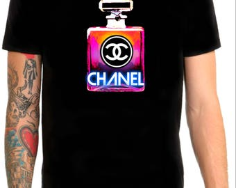 Chanel inspired bottle t shirt black sizes M/L
