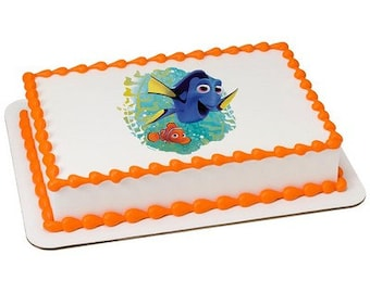 Finding Dory Edible Cake or Cupcake Toppers - Choose Your Size