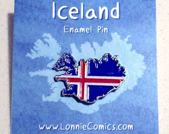 Iceland flag country pin