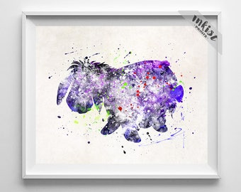 eeyore print pooh watercolor art disney poster winnie the pooh baby gift