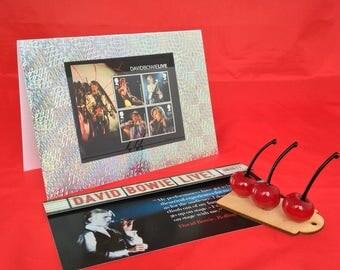 David Bowie live tour stamps card
