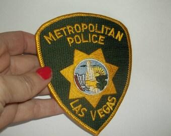 Vintage Las Vegas Police Patch, 1970s Metropolitan Police Las Vegas, Excellent