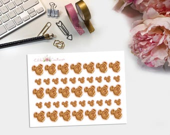Mouse Waffle Planner Stickers