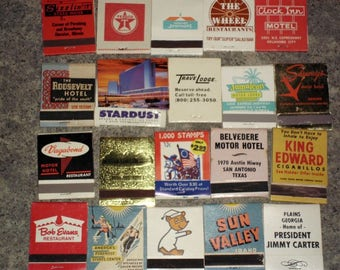 20 Vintage 70s Matchbooks