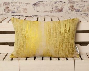 citrine yellow cushion//citrine yellow pillow//yellow cushion//yellow pillow//silk cushion//silk pillow