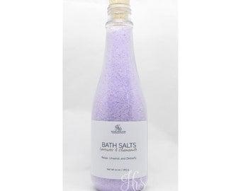 Lavender and Chamomile Bath Salts Soak - Salt Soak, Bath Soak, Detox, Detox Bath, Detox Tea, Relaxation Gifts, Relax Soak Unwind