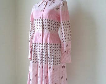 Free Shipping! GINZA MAGGY  Spring Dress | Size Small | 1970s japanese vintage dress