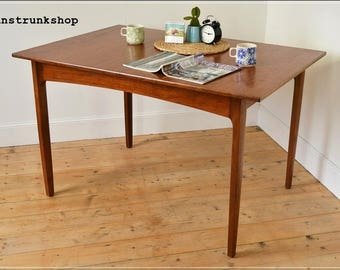 vintage dining table teak mid century danish design Remploy